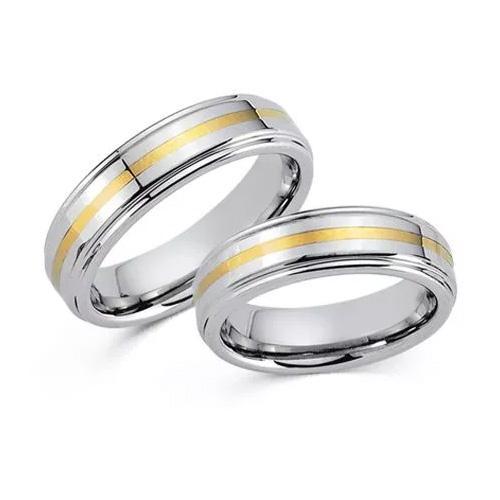 Tungsten Ringe Gelbgold 585 20005