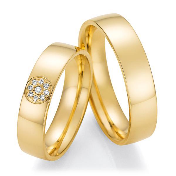 Trauringe Gelbgold mit mehreren Diamanten TRS66RU60050G