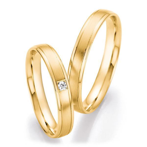Trauringe Gelbgold Brillant CR 66/41070 & 66/41080