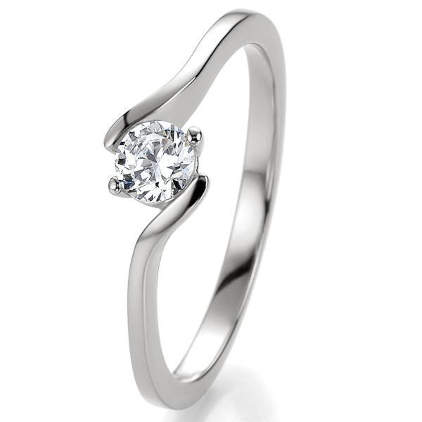 Verlobungsring Silber 925 Bridal Zirkonia 3 mm