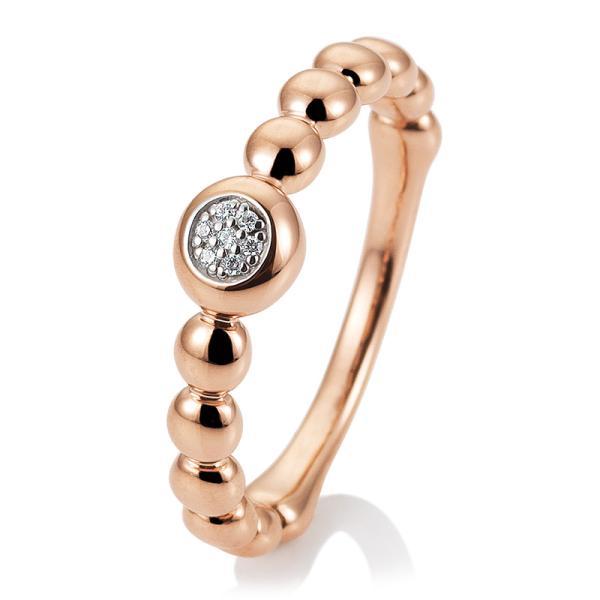 Ring Rotgold Brillant