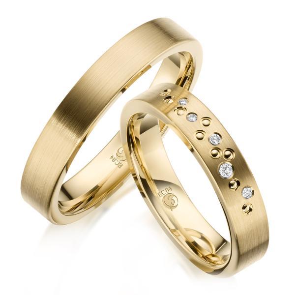 Trauringe Eheringe 1635 Gelbgold Gold