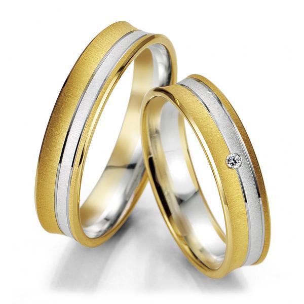 Trauringe 48/07049 & 48/07050 Gelbgold & Weißgold