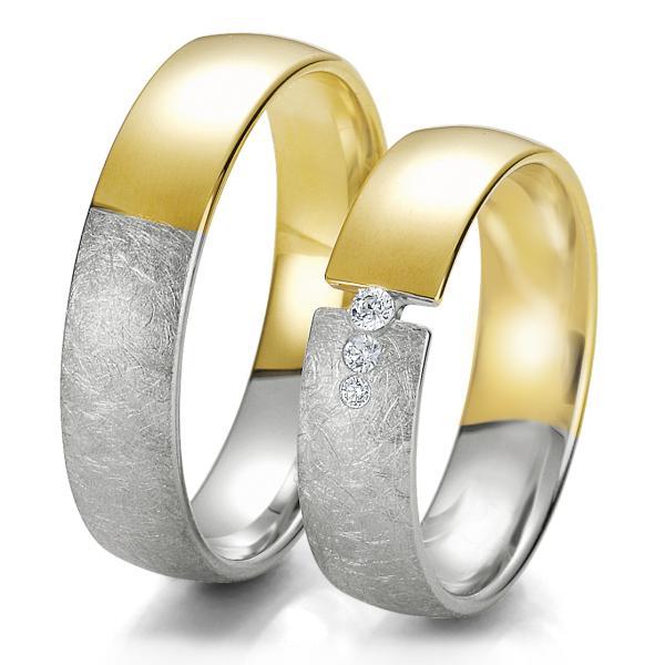 Trauringe Weißgold & Gelbgold TRS06BR237WG