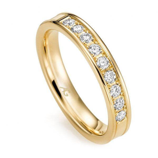 Memoire Ring Gelbgold 585 Brillant GE 29762/3.8