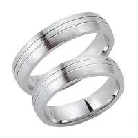 Trauringe / Partnerringe Silber 925 SW925-017 Sterlingsilber feinmatt