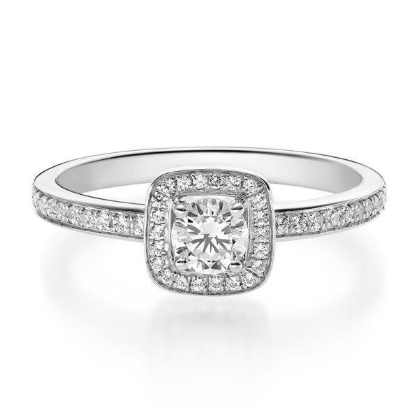 1592 Halo Diamantring Weißgold 750