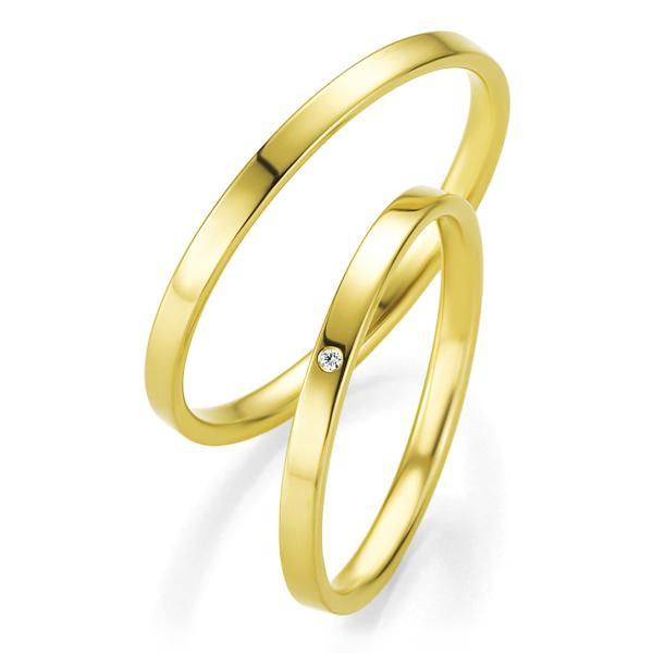 Trauringe Gelbgold Basic Slim BR 48/04309 & 48/04310