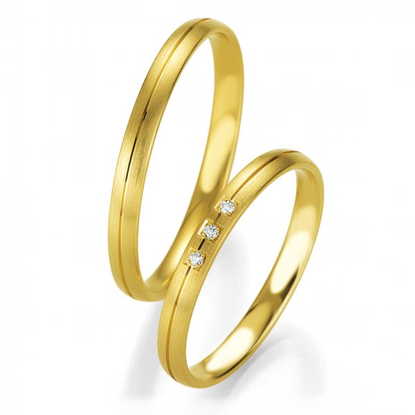 Trauringe Gelbgold Basic Slim BR 48/04323 & 48/04324