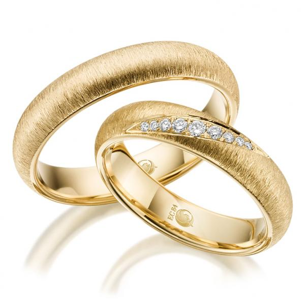 Trauringe 1524-1 Gelbgold Gold Brillant