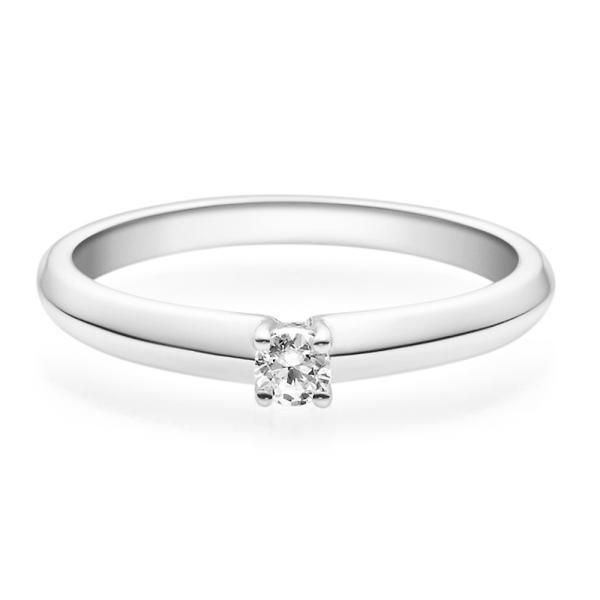 Verlobungsring Weißgold Solitär Ring 18004