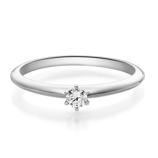 Verlobungsring Weißgold 18023 Solitär Ring