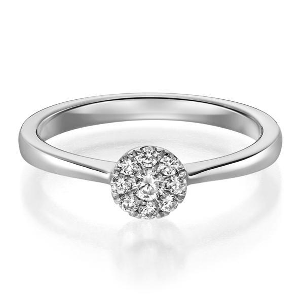 Ring 1593 Verlobungsring Platin 950 0,150 ct.