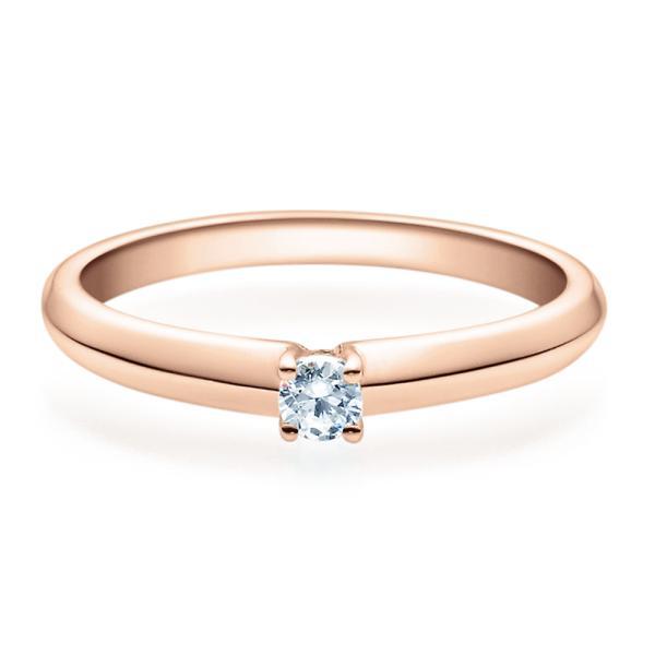 Verlobungsring Rotgold Solitär Ring 18004