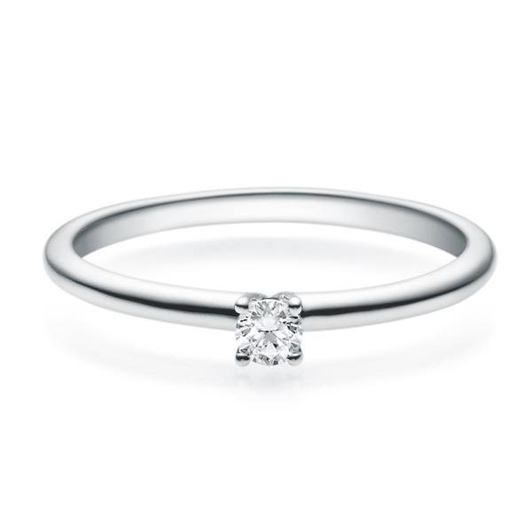 Verlobungsring 18018 Silber Solitär Ring 0,100 ct