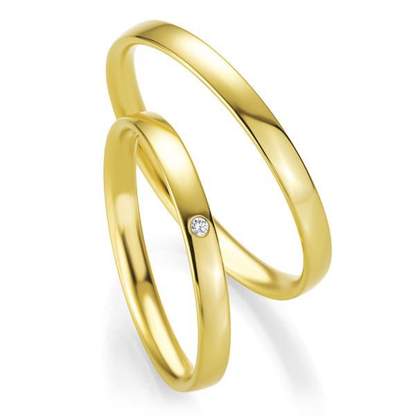 Trauringe Gelbgold Basic Slim BR 48/04301 & 48/04302