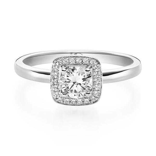 Diamantring Solitaire Weißgold 750 19011