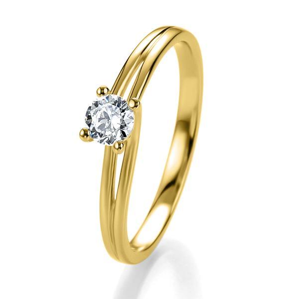 Bridal Antragsring Gelbgold 41/05307