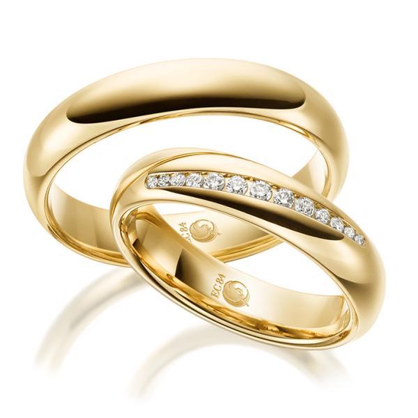 Trauringe 1527-1 Gelbgold Gold Brillant Eheringe