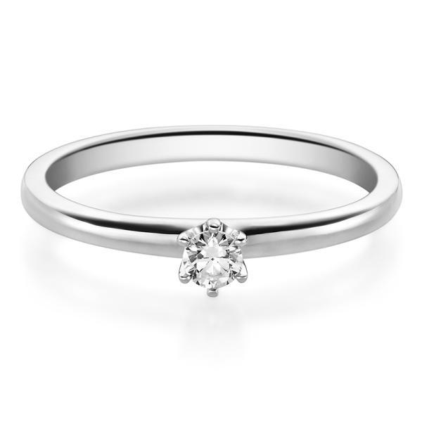 Verlobungsring 19002 Platin Solitär Ring