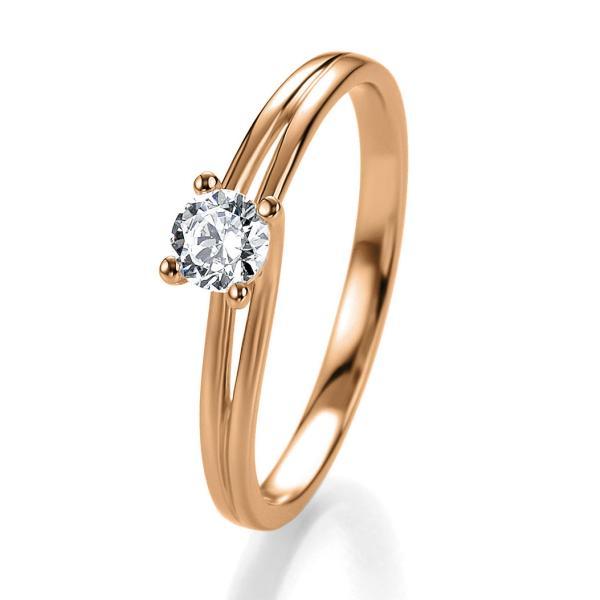 Bridal Antragsring Rotgold 41/05307