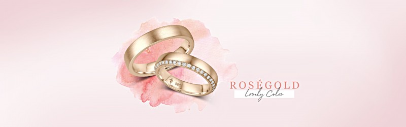 Trauringe und Eheringe Roségold