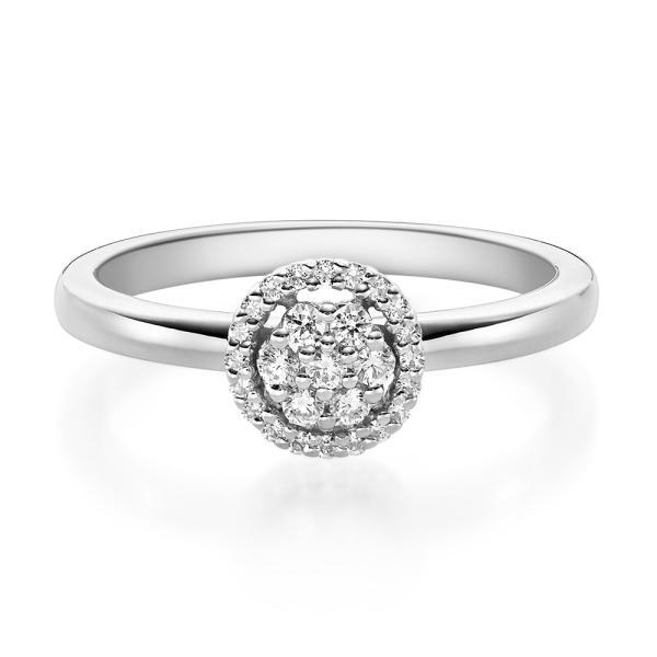 Verlobungsring 19010 Platin Solitär Ring 0,150 ct.