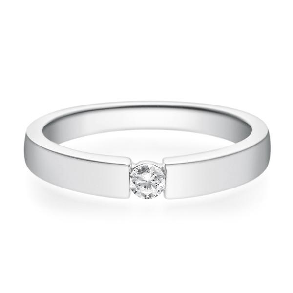 Rubin Verlobungsring 18012 Silber Solitär Ring