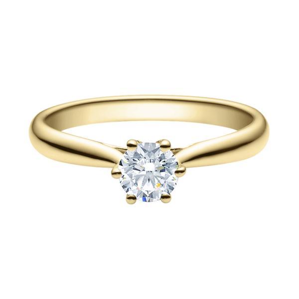 Verlobungsring 18007 Gelbgold Solitär Ring 0,500 ct. tw/si