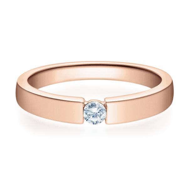Verlobungsring 18012 Rotgold Solitär Ring