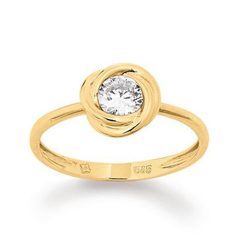 Ring Gelbgold 585 Zirkonia Palido K11566G