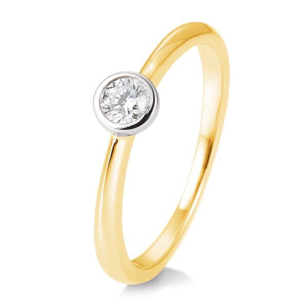 Ring 41/85128 Bicolor Gelbgold Weißgold 585 Brillant