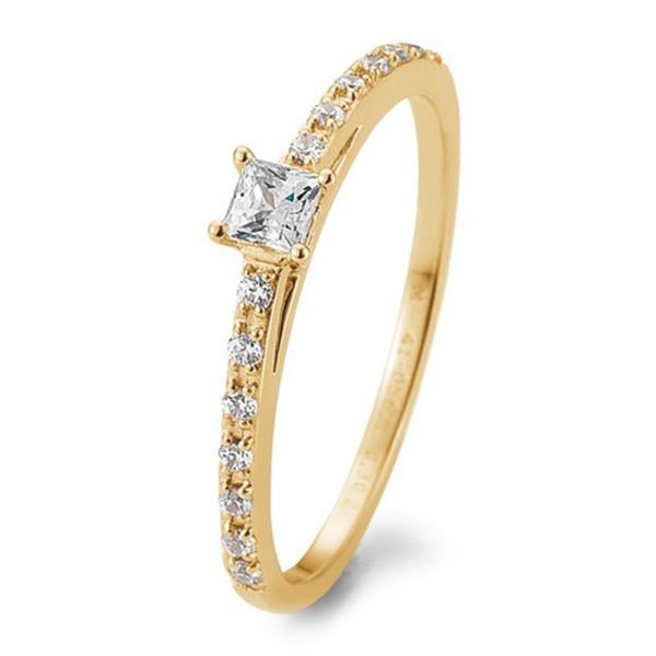 Verlobungsring Antragsring Gelbgold Princess Brillant TRS05BR671G