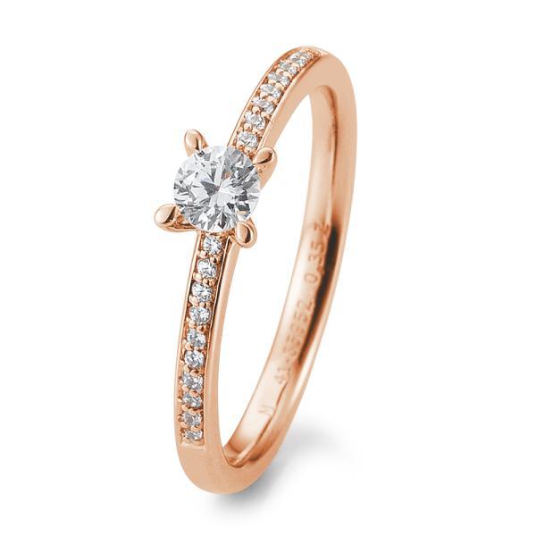 Verlobungsring Antragsring Rotgold Brillant TRS85BR952R