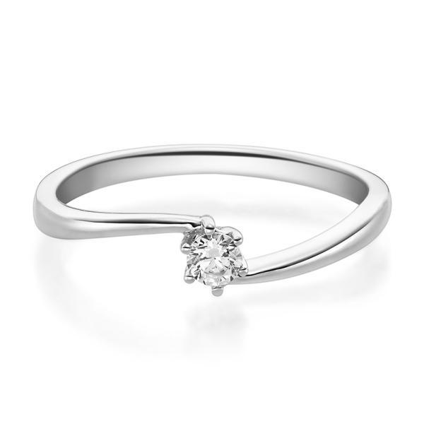 Ring 1584 Verlobungsring Weißgold 0.100 ct.