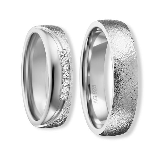 Freundschaftsringe Silber 925 Zirkonia BD 90057