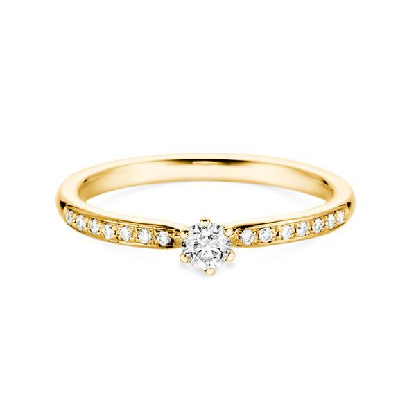 Solitär Ring Gelbgold Brillant