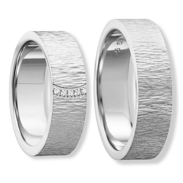 Freundschaftsringe Silber 925 eismatt Zirkonia BD 90058