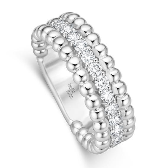 Kügelchen Ring Pallina II Weißgold EH4445