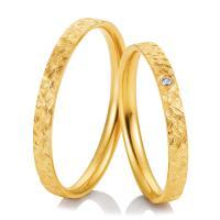 Trauringe Gelbgold Kristallmatt 48/04983 & 48/04984