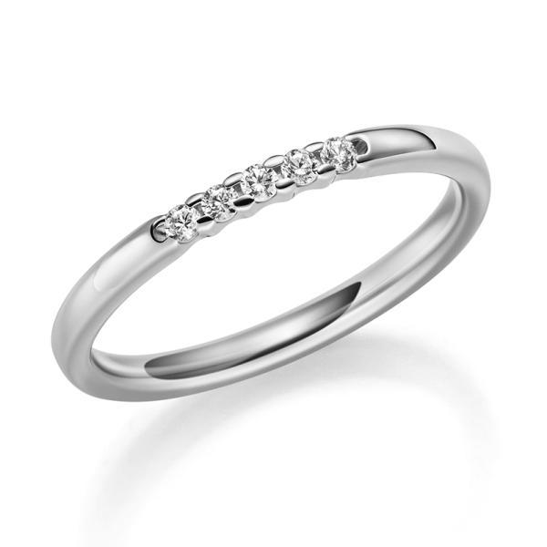 1060-34 Memoire Ring Platin Brillant