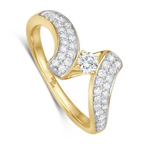 Kügelchen Ring Cristiana Gelbgold EH4714