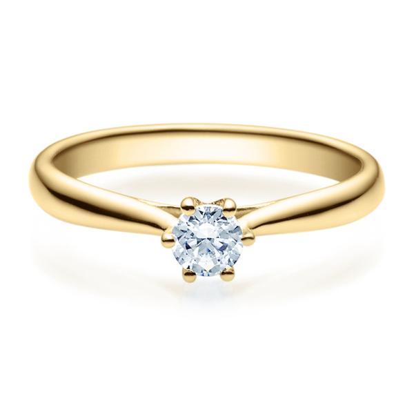 Verlobungsring 18007 Gelbgold Solitär Ring 0,250 ct. tw/si