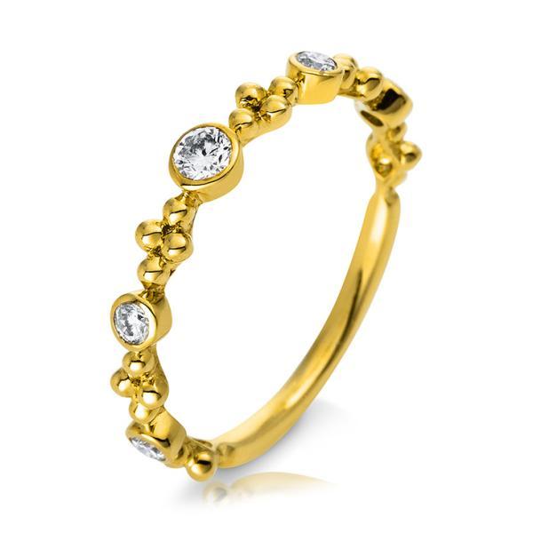 Verlobungsring Gelbgold 750 Brillant