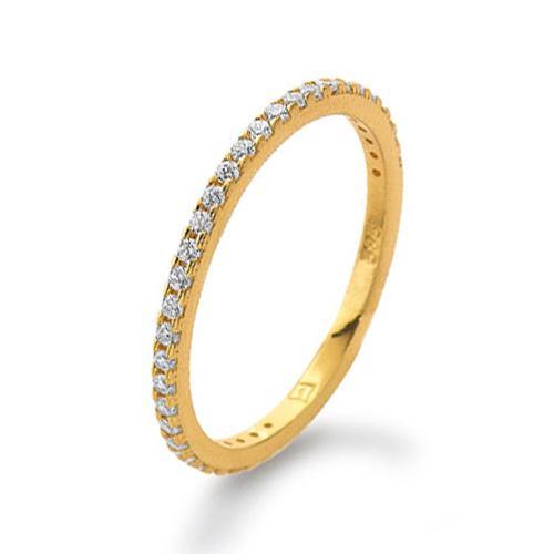 Memoire Ring Gelbgold 585 Zirkonia PDO K11284G