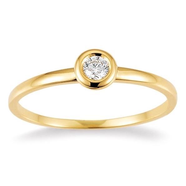 Ring Gelbgold 585 Brillant K10487W