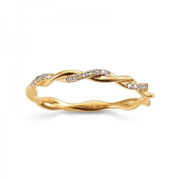 First Love Ring Gelbgold 585 Brillant PDO K10971/G Kordelring