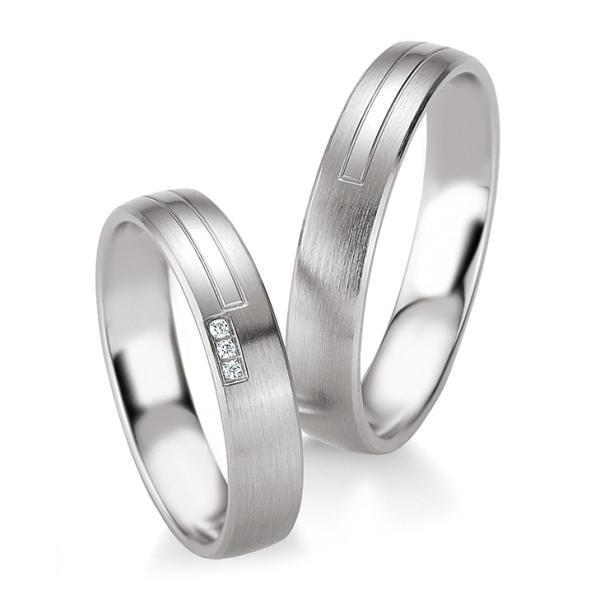 Trauringe Silber 925 Partnerringe 48/08087 & 48/08088