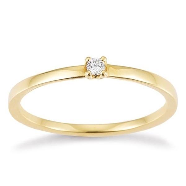 Solitär Ring Gelbgold 585 Brillant F1332 Krappenfassung