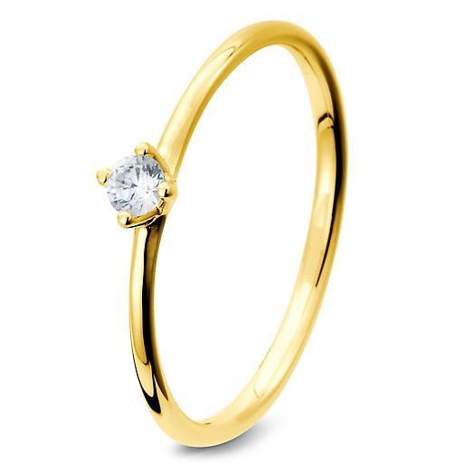 Verlobungsring mit Solitär - Gelbgold - TRS05BR278G